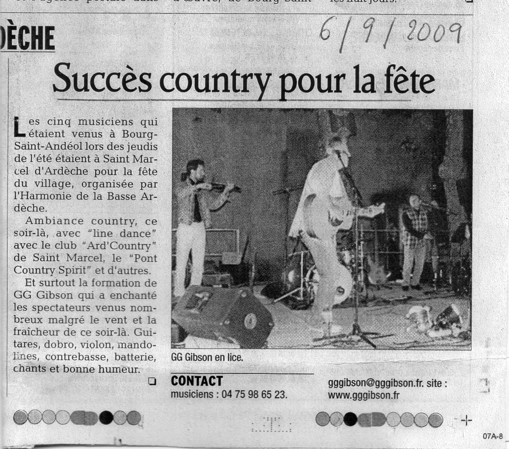 Article D.L SConcert St Marcel 29 08 09
