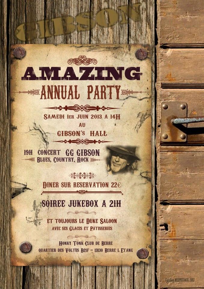 Affiche Gibson Hall 1 er juin 2013