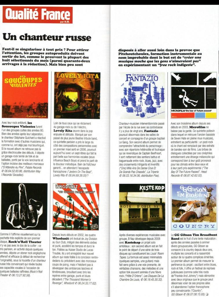 CD Country dans Rock & Folk Février 2010 2